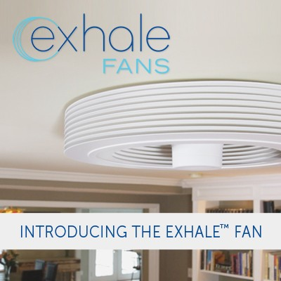 exhale bladeless ceiling fan exhale fans first truly bladeless ceiling fan